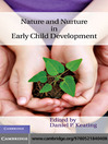 Nature and Nurture in Early Child Development (eBook)